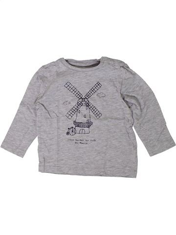 Camiseta de manga larga niño BOUT'CHOU gris 18 meses invierno #1402042_1