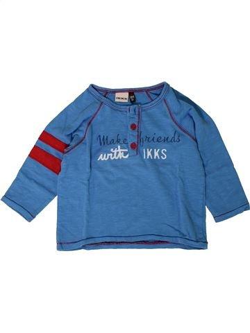 T-shirt manches longues garçon IKKS bleu 18 mois hiver #1402043_1