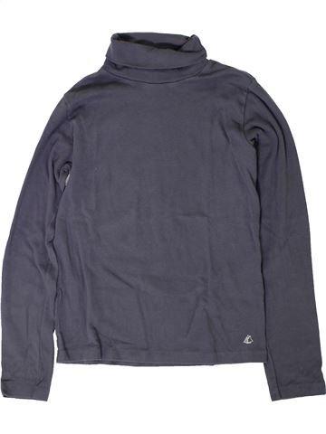 Camiseta de cuello alto niño PETIT BATEAU azul 12 años invierno #1402047_1