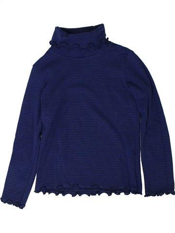 Camiseta de cuello alto niña CYRILLUS azul 6 años invierno #1402048_1