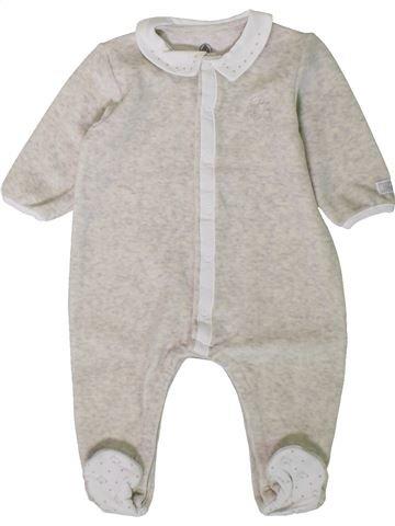 Pyjama 1 pièce garçon PETIT BATEAU blanc 6 mois hiver #1402092_1