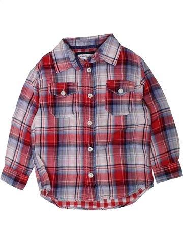 Chemise manches longues garçon OKAIDI violet 3 ans hiver #1402130_1