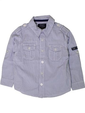 Chemise manches longues garçon OKAIDI bleu 3 ans hiver #1402134_1