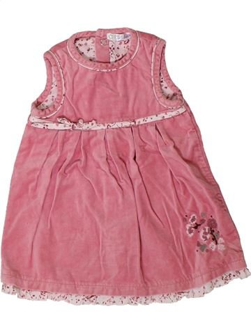 Vestido niña OKAIDI rosa 6 meses invierno #1402191_1