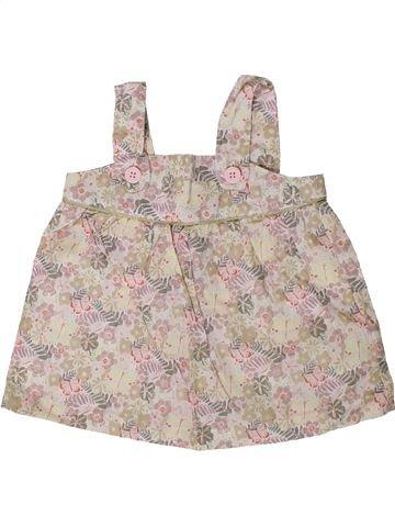 Blusa de manga corta niña VERTBAUDET beige 12 meses verano #1402224_1