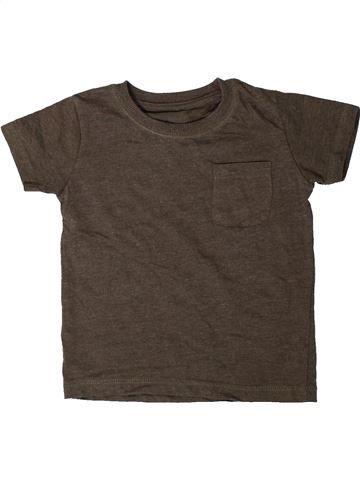 T-shirt manches courtes garçon MATALAN marron 18 mois été #1402241_1