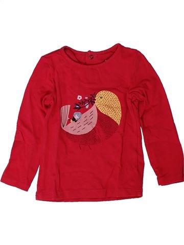Camiseta de manga larga niña CATIMINI rojo 2 años invierno #1402275_1
