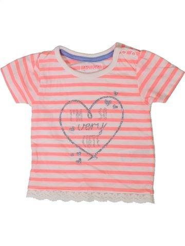 T-shirt manches courtes fille PRIMARK rose 3 mois été #1402346_1