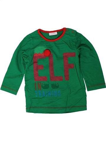 T-shirt manches longues garçon NEXT vert 12 mois hiver #1402541_1