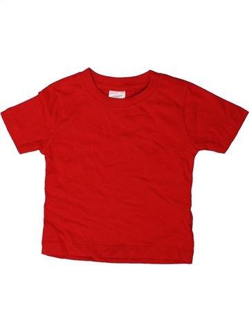 T-shirt manches courtes garçon BABY rouge 18 mois été #1402569_1