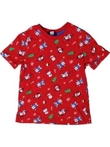 T-shirt manches courtes garçon GEORGE rouge 5 ans été #1402663_1