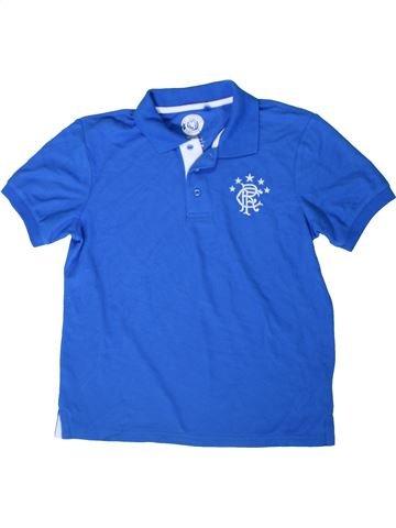 Polo manches courtes garçon RANGERS FC bleu 12 ans été #1402849_1