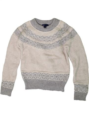 Pull fille GAP blanc 10 ans hiver #1402953_1