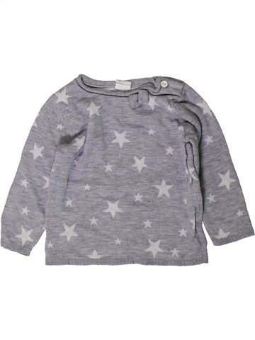 Pull fille H&M gris 9 mois hiver #1402962_1