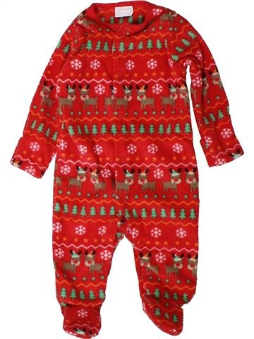 Pyjama 1 pièce fille F&F rouge 3 mois hiver #1403068_1