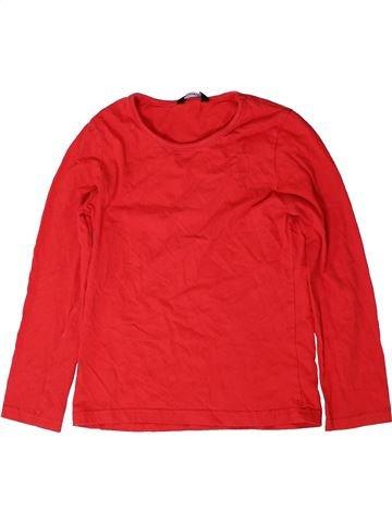 T-shirt manches longues garçon GEORGE rouge 8 ans hiver #1403117_1