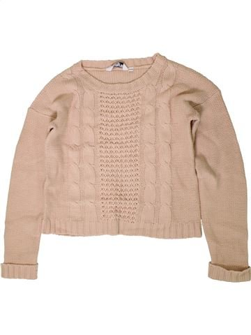 Pull fille NEW LOOK beige 15 ans hiver #1403197_1