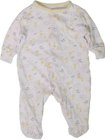 Pyjama 1 pièce fille DUNNES blanc 3 mois été #1403349_1