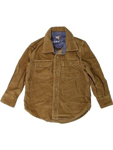 Chemise manches longues garçon GAPKIDS marron 3 ans hiver #1403366_1