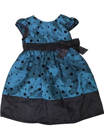 Robe fille BLUEZOO bleu 2 ans hiver #1403401_1