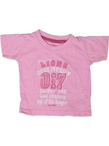 T-shirt manches courtes fille PRIMARK rose 12 mois été #1403410_1