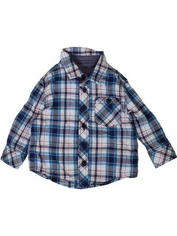 Chemise manches longues garçon MATALAN bleu 6 mois hiver #1403435_1