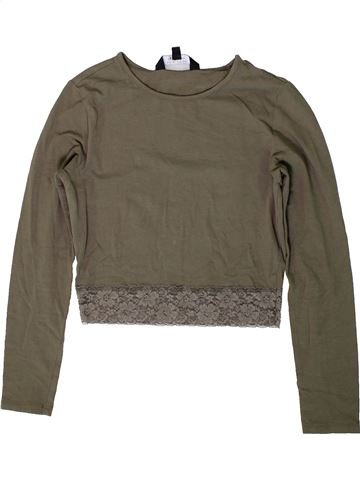 T-shirt manches longues fille NEW LOOK marron 13 ans hiver #1403442_1
