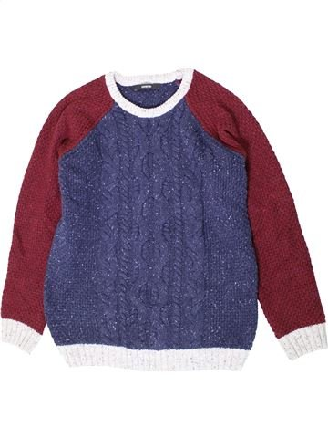Pull garçon GEORGE violet 12 ans hiver #1403482_1
