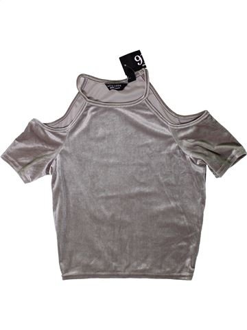 T-shirt manches courtes fille NEW LOOK gris 13 ans hiver #1403581_1