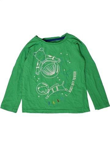 T-shirt manches longues garçon NUTMEG vert 5 ans hiver #1403699_1