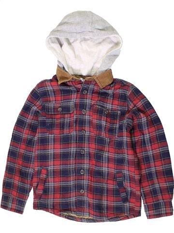 Chemise manches longues garçon M&CO violet 9 ans hiver #1403721_1