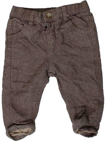 Pantalon garçon MATALAN marron 6 mois hiver #1403759_1