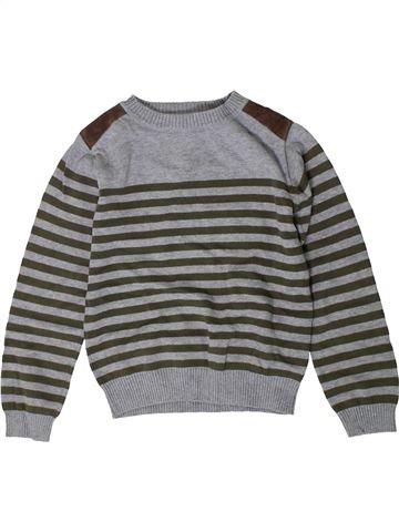Pull garçon F&F gris 6 ans hiver #1403771_1