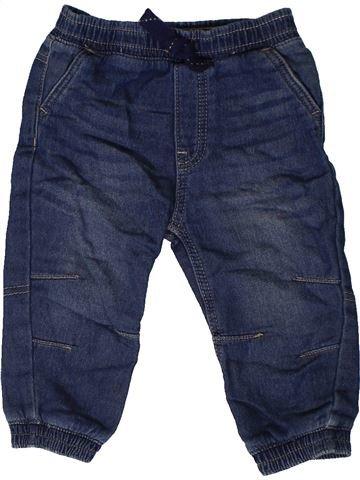 Pantalon garçon GEORGE bleu 12 mois hiver #1403784_1