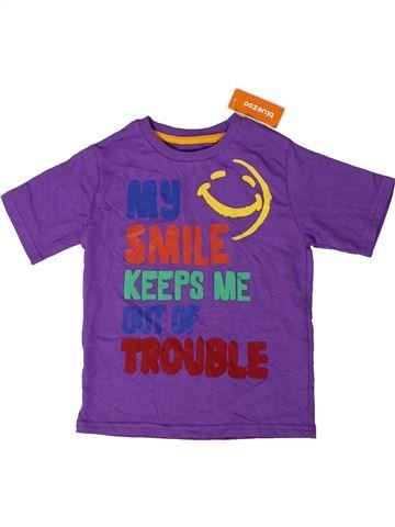 Camiseta de manga corta niño DEBENHAMS violeta 2 años verano #1403790_1