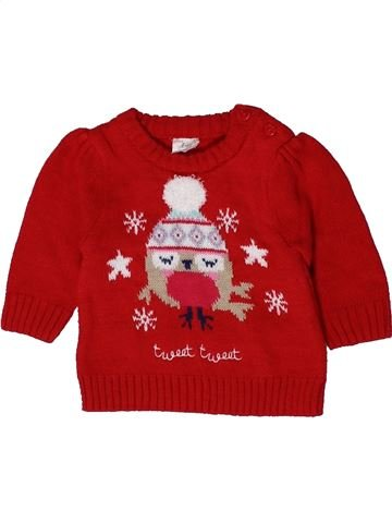 Pull fille F&F rouge 1 mois hiver #1403814_1