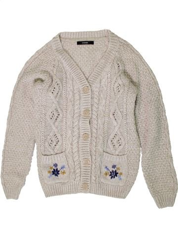 Gilet fille GEORGE blanc 12 ans hiver #1403915_1