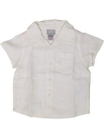 Chemise manches courtes garçon CYRILLUS blanc 9 mois été #1404772_1