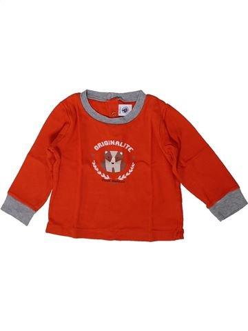Camiseta de manga larga niño PETIT BATEAU rojo 18 meses invierno #1405078_1