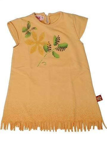 Robe fille CLAYEUX orange 6 mois été #1405250_1