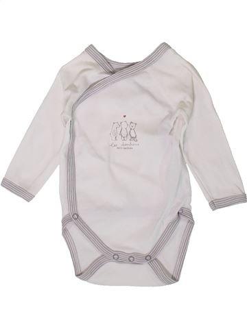 Camiseta de manga larga niño PETIT BATEAU blanco 3 meses invierno #1405845_1