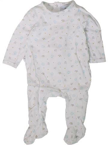 Pyjama 1 pièce garçon PREMAMAN blanc 9 mois été #1406337_1
