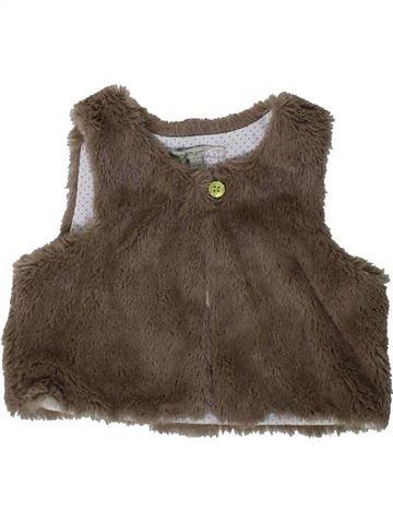 Chaleco niña PREMAMAN marrón 6 meses invierno #1406458_1