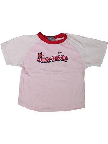 5f84a57a26 Camiseta de manga corta niña NIKE rosa 3 años verano  1406550 1