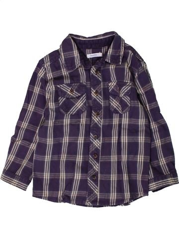 Chemise manches longues garçon BOUT'CHOU gris 2 ans hiver #1407210_1