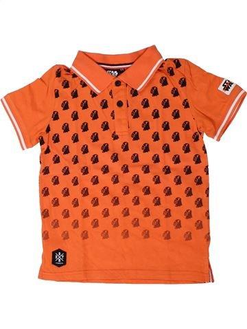 Polo manches courtes garçon STAR WARS orange 6 ans été #1407325_1