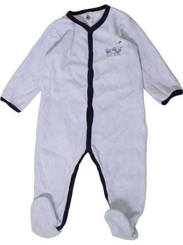 Pijama de 1 pieza niño PETIT BATEAU blanco 18 meses invierno #1407453_1