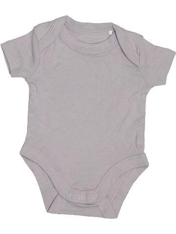 T-shirt manches courtes garçon LILY & DAN gris naissance été #1408741_1