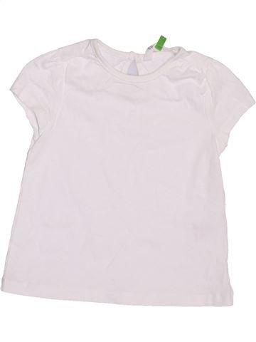 Camiseta de manga corta niña JOHN LEWIS blanco 9 meses verano #1408781_1