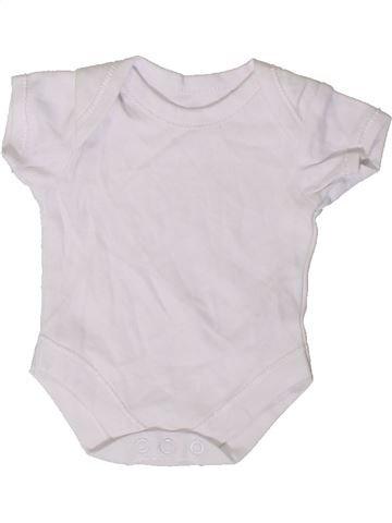 T-shirt manches courtes unisexe GEORGE blanc prématuré été #1409396_1